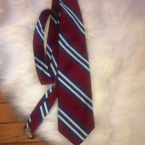 Christian Dior Paris red white blue neck tie